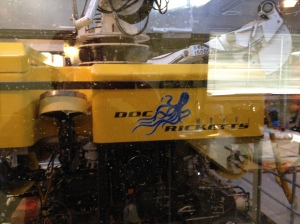 The MBARI ROV Doc Ricketts casually awaiting its next deployment into the unknown.