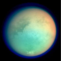 Titan as seen in ultraviolet and infrared from the Cressini space probe